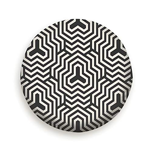 Lines Modern Stylish Geometric Spare tire Cover for Jeep Trailers Rvs Suvs Trucks and Many Vehicles(14 15 16 17 Inch)