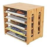 EasyPAG Bamboo 5 Tier File Sorter Mail Center