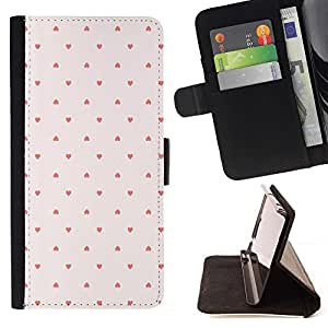 Momo Phone Case / Flip Funda de Cuero Case Cover - Modelo de punto Wallpaper Rosa Rojo - Sony Xperia M2