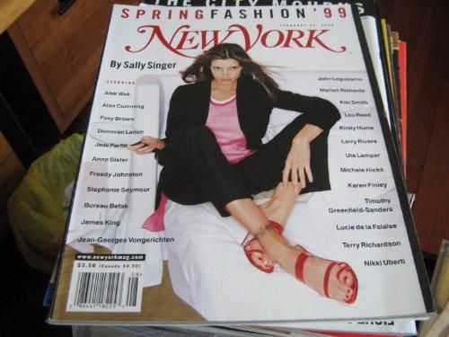 New York Magazine (RSTEPHANIE SEYMOUR , Spring Fashion '99 , John Leguizamo , Kiki Smith , Lou Reed , Kristy Hume)