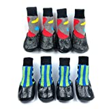 Alfie Pet by Petoga Couture - Wallace 2 Set of 4 Rubber Dipped Dog Paw Protection Socks - Size: Small