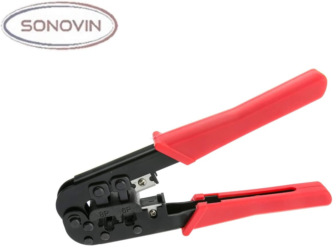 Crimp Tool for RJ11 Sonovin RJ45 Network and Phone RJ12