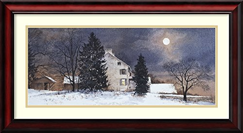 Framed Art Print 'A Cold Night' by Ray Hendershot
