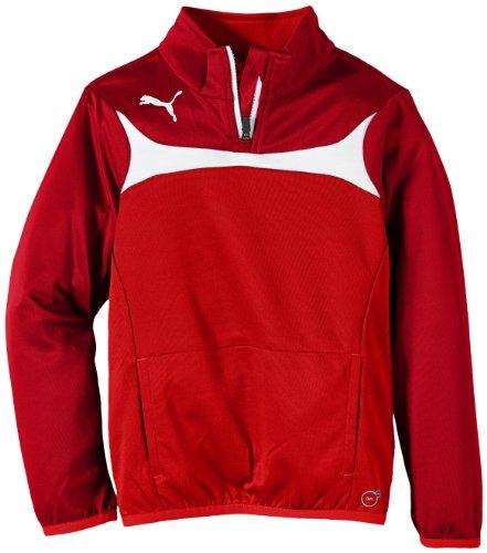 PUMA Kinder Langarmshirt Esito 3 1/4 Zip Training Top, red-white, 140, 653966 01