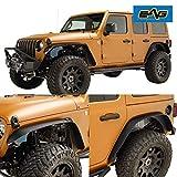 EAG JL Fender Flare for 18-19 Jeep Wrangler JL Front+Rear Fender Flares Steel