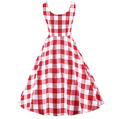LUOUSE  - Vestido - para mujer V020-Red