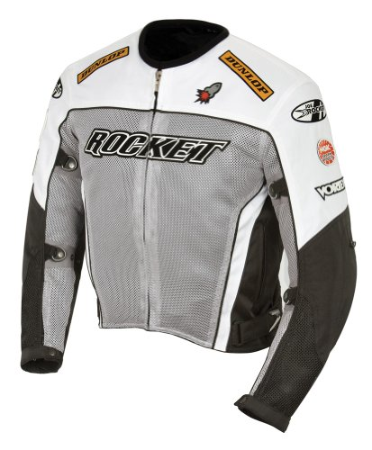 - Joe Rocket UFO 2.0 Textile Mesh Motorcycle Jacket XX-Large (Size 48) Grey