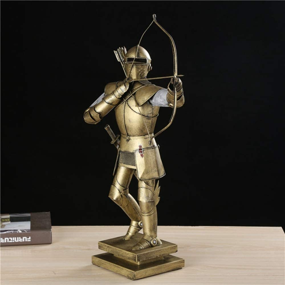 Metal Medieval Armed Warrior Statue Handmade Iron Art Medieval ...
