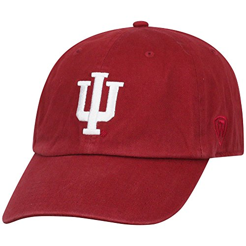 Top of the World Indiana Hoosiers Men's Hat Icon, Cardinal, Adjustable
