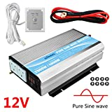 GIANDEL Pure Sine Wave Power Inverter 2000W DC 12V to AC 230V/240V converter with remote controller & dual AC outlets for RV Truck Car