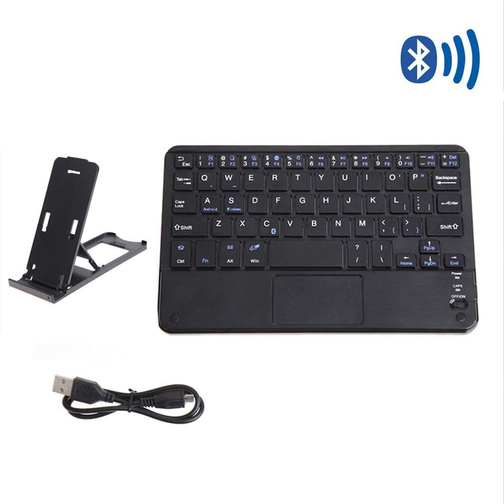QYLLXSYY 7 in Ultra Thin Bluetooth Keyboard with Touchpad Computer Wireless Gaming Keypads Portable Tablet PC Phone Keyboard