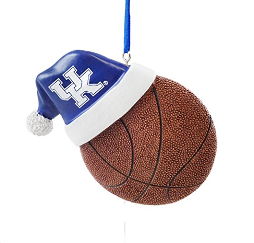 Kentucky Wildcats Ornaments - University of Kentucky Santa Hat Basketball Hanging Christmas Ornament