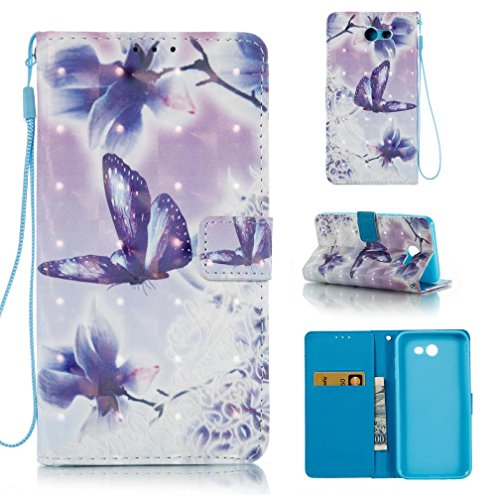 Galaxy J7 V Case, Galaxy J7 Perx Case, Galaxy J7 Sky Pro Case, Galaxy J7 2017 Case,Shock Resistant Wallet Case With Card Holding Case Folio Flip Card Slots Covers for Samsung Galaxy J7 2017-Butterfly