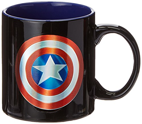 ICUP Marvel's Captain America Shield Iridescent 20oz. Ceramic Mug by ICUP