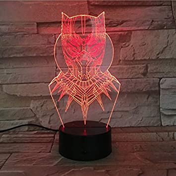 Remarkable Amazon Com 3D Led Black Panther Night Light Usb Touch Bralicious Painted Fabric Chair Ideas Braliciousco