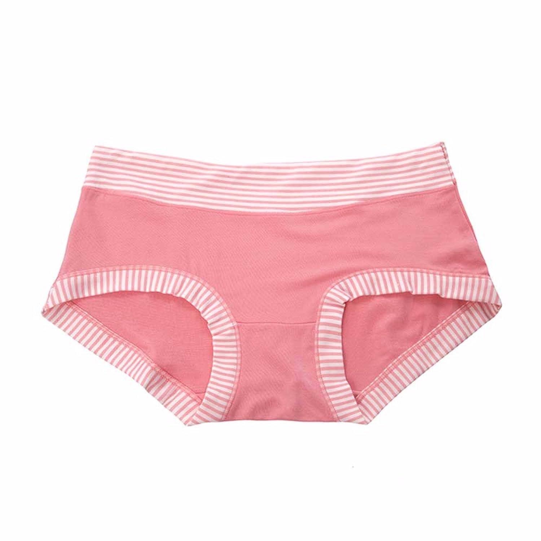 3 boîtes de répartition modale Sous-vêtements respirants pour angle plat couleur bonbon rayé Femme Pantalon
