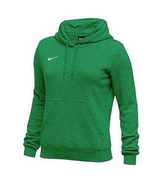 db40f486d Amazon.com: Nike Womens Hoodie Fleece Club (Kelly Green/White, X-Small):  Clothing
