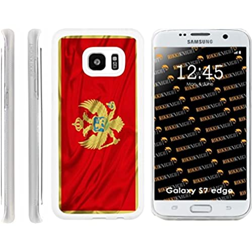 Rikki Knight Montenegro Flag Design Samsung Galaxy S7 Edge Case Cover (Clear Rubber with front Bumper Protection) for Samsung Galaxy S7 Edge ONLY Sales