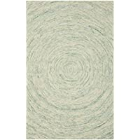Safavieh Ikat Collection IKT635A Handmade Ivory and Blue Premium Wool Area Rug (4 x 6)