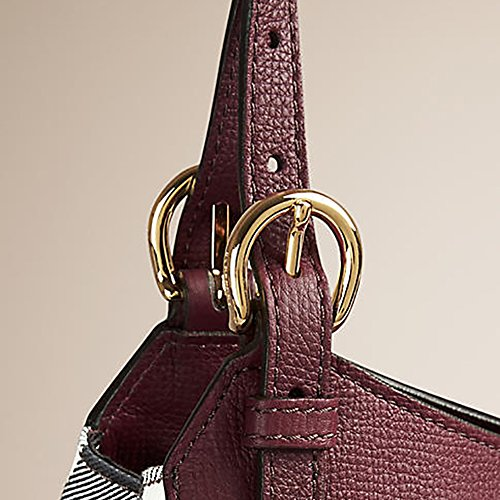 7057b6f57eb4 Tote Bag Handbag Authentic Burberry Small Canter in Leather and House Mahogany  Red ...