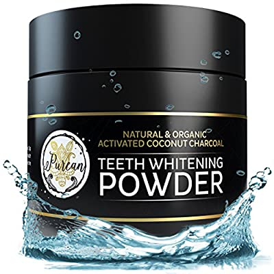 Teeth Whitening Activated Coconut Charcoal Powder – 2oz – Activated Charcoal Teeth Whitening Kit – Tooth Whitening – Teeth Whitener – White Teeth Whitening Charcoal – Tooth Powder