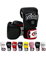 Fairtex Muay Thai Boxing Gloves BGV1 Color: Black Blue Red Yellow White Size : 10 12 14 16 oz. Training Sparring Gloves for Kick boxing MMA K1