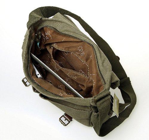 STUDIO GHIBLI Mi Vecino Totoro bolso bandolera de lona con hebillas de piel -verde: Amazon.es: Ropa y accesorios