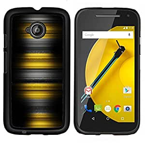 Stuss Case / Funda Carcasa protectora - Rayas amarillas - Motorola Moto E2 E2nd Gen