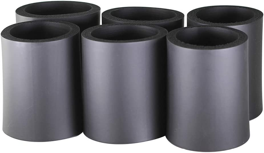 Pinnacle Mercantile Beer Can Coolers Thick Insulators Foam Non-CollapsibleBlack Set 6