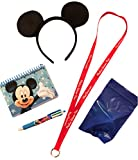 Mickey Disney Vacation Set Mouse Ears Headband Official Autograph Book & Pen