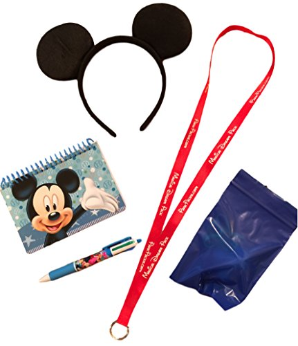 Mickey Disney Vacation Set Mouse Ears Headband Official Autograph Book & Pen (Disney Dream Pin)