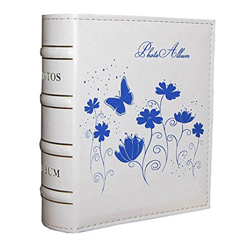 Flower Photo Album (Pocket Blue Butterfly and Flower Photo Albums for 7 X 5 Inches Prints)