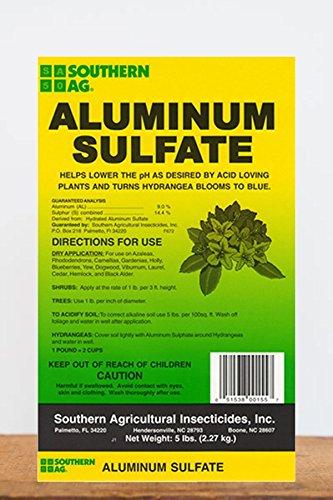 Southern Ag Aluminum Sulfate (Acidifies Soil), 5 LB