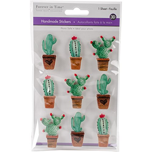 Multicraft Imports Cactus Handmade 3D Big Icon Stickers (Handmade Scrapbooking Stickers 3d)
