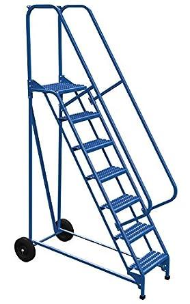 Vestil LAD-RAF-7-G - Escalera enrollable plegable (58 grados, 7 peldaños), color azul: Amazon.es: Amazon.es