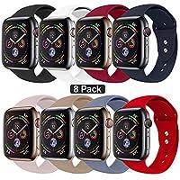Sworddy - Correa de repuesto para el reloj Apple Series 4/3/2/1, 38mm, 40mm, 42mm, 44mm, silicona suave compatible con el reloj Apple Series 4/3/2/1