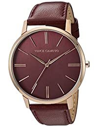 Vince Camuto Women's VC/5322RGBY Burgundy Leather Strap Watch