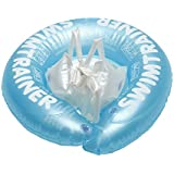 Pampel Swimming Rings Safety Floating PVC Inflatable Pool Float(3 Months - 3 Years) (Blue)