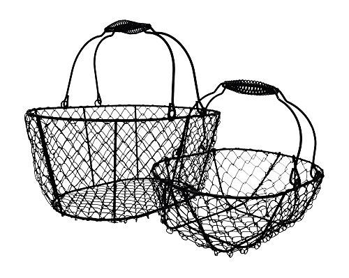 Vintage Basket Easter (Wire Egg Baskets, Chicken Egg Collecting Basket, Vintage Black