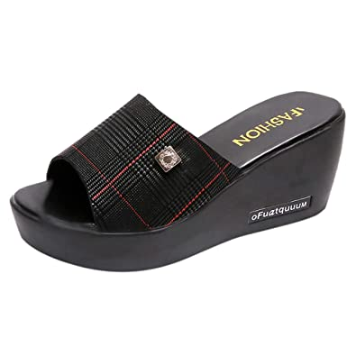 e002d794f7ec6 Womens Sandals Wedges Platform Peep Toe Roman Bohemian Beach Open ...