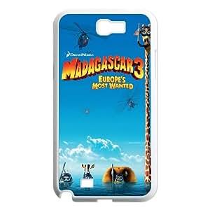 Uhtu Madagascar Samsung Galaxy N2 7100 Cell Phone Case White