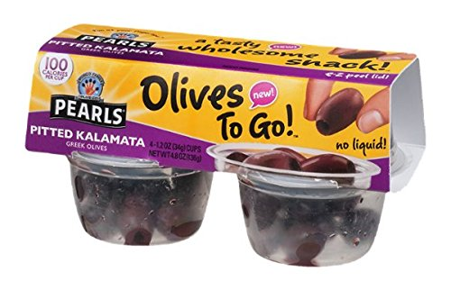 Pearls Pitted Kalamata Greek Olives - 4 ct