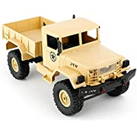 FLYPRO RC Rock Crawler Remote Radio Control Truck Car Vehicle, 1/16 Scale 130 Motor 4WD Trail Crawler with 2.4GHz High Speed Long Playing Time