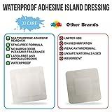 JJ CARE [Pack of 50] Waterproof Adhesive Island