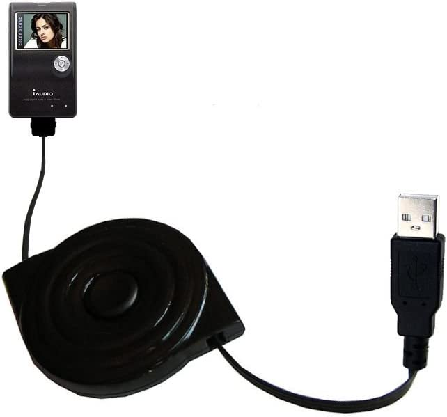 Gomadic Compact and Retractable USB Charge Cable for GoPro HERO5 Black USB Power Port Ready Design and uses TipExchange