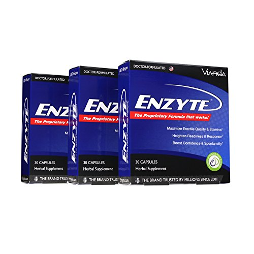 Enzyte®| Doctor-Formulated for a Boost in Blood Flow for Natural Male Enhancement with Asian Ginseng, Ginkgo Biloba, Grape Seed Extract - 90 Capsules