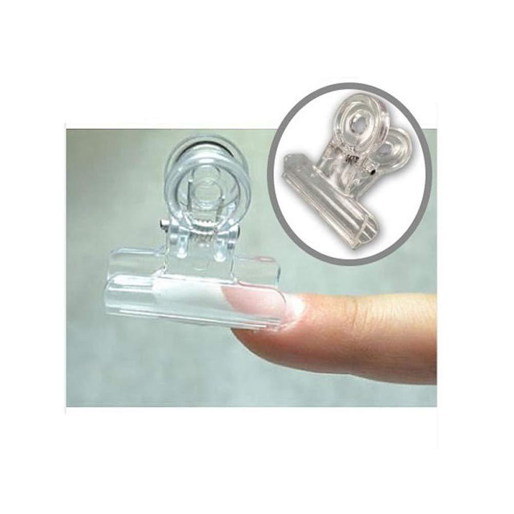 ZOOARTS 10pcs/set Rusian C Curve Nail Pinching Clips Multi Function Tool Acrylic Nails Pinchers (White)