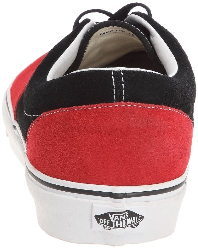 Vans  Era, baskets - skateboard mixte adulte Noir - Schwarz (Black/Red)
