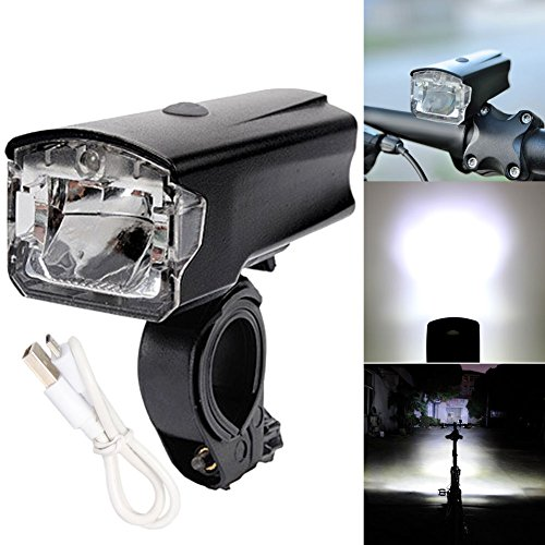 420LM Bike LED Front Light Bicycle Head German STVZO Light Lamp USB Rechargeable