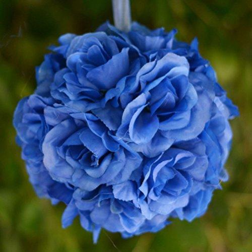 4 pcs ROYAL BLUE Roses 7